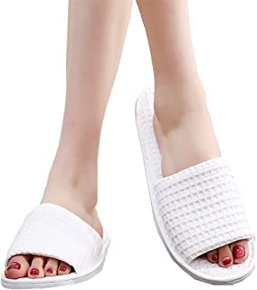 10 Pairs Disposable Slippers,Spa slippers,White,Universal Size Perfect for Women and Men for Hotel,Home,Nail Salon,Guests,...