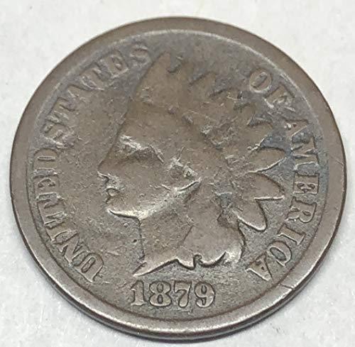 1879 P Indian Head Penny Cent Good Detials
