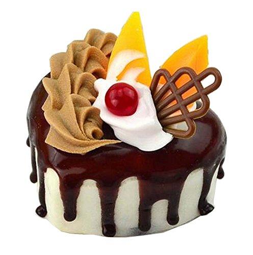 Black Temptation Juego de 2 Torta Artificial Cake Fake Cake, Corazón de café
