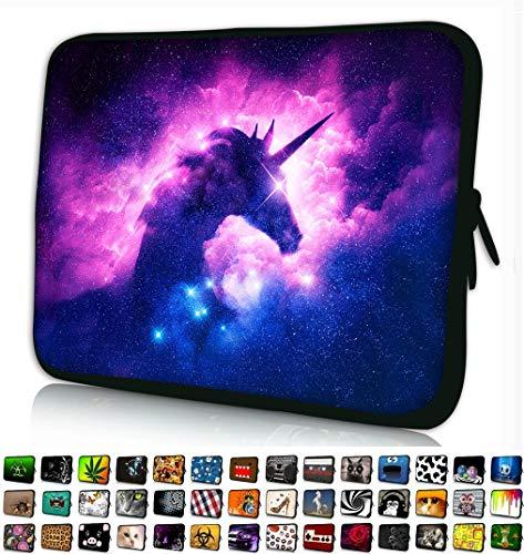 Funky Planet Schutzhülle für Apple MacBook Air Pro Dell Lenovo Samsung Asus Computer Tablet oder iPad mehrfarbig Einhorn 13