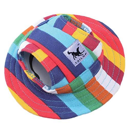 TOSSPER Shade Perro Sombrero del Verano del Perrito Sombreros Deporte Aire Libre De Protección Solar Gorra De Visera Gato con Agujeros De Orejas del Animal Doméstico Vestimenta Exterior 27cm