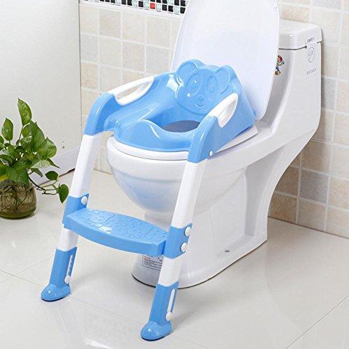Toiletten-Trainer, Töpfchen Kinder,Toilettensitz mit Leiter Töpfchen Sitz mit Treppe für Kinder Toiletten Training