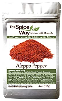 The Spice Way - Premium Aleppo Pepper |4 oz.| Crushed Aleppo Pepper Flakes  Halaby Pepper/Pul Biber/Marash Pepper/Aleppo Chili Flakes  Popular in Turkish and Middle Eastern/Mediterranean cooking