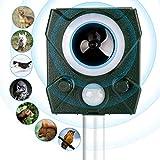 Aidodo Ahuyentador de gatos por ultrasonido, repelente de animales, repelente solar, resistente al agua, repelente de gatos, perros, martas, aves, martas, hasta 9,5 m de alcance (verde)