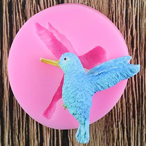Bordied Molde De Silicona De Pájaro 3D, Molde De Goma De Pájaro para Manualidades De Azúcar, Herramienta De Decoración De Pasteles DIY, Molde para Hornear Pasteles, Chocolate, Caramelo, Barro, Molde