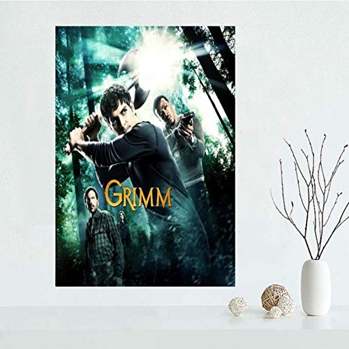 NOVELOVE Grimm TV-Serie Poster HD-Drucke Leinwand Malerei Büro Bar Wandkunst Bilder Wanddekoration (50 * 75cm) Ohne Rahmen