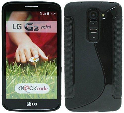 ENERGMiX Silikon Hülle kompatibel mit LG G2 Mini D620R Tasche Hülle Zubehör in Schwarz