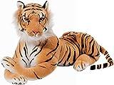 BRUBAKER Tigre Coccolone Giocattolo 45 cm - Tiger Sdraiato Peluche Giocattolo di Peluche - Marrone