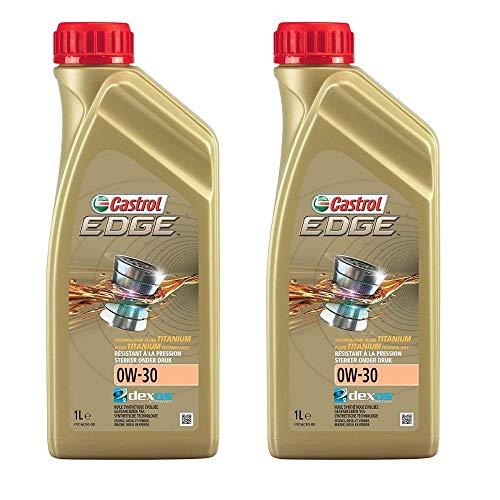 BOXLUM CASTROL Olio Motore Edge 0W30 Confezione da 2 Flaconi da Litri 1