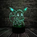 KangYD Veilleuse Pokemon Eevee 3D LED, Lampe colorée, Acrylique, Cadeau enfant,...