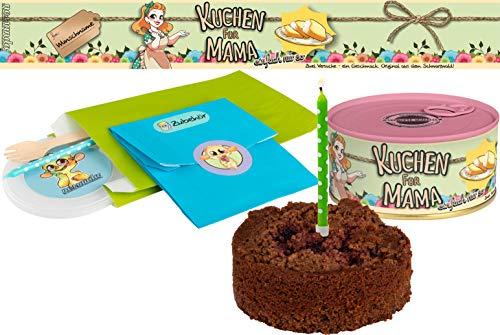 Kuchen für Mama | Kuchen in der Dose | Personalisiert mit Wunsch Namen und Geschmack | Geschenk | Geschenkidee (Schoko-Kirsch, Rosa)