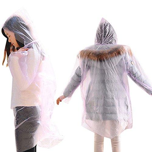 10 x Einweg-Regenmantel, Einweg-Regenmäntel, Poncho, Regenbekleidung, Reise-Regenmantel