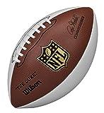 Wilson WTF1192 Pelota de fútbol Americano NFL Autograph para coleccionistas, Unisex Adulto, Marrón/Blanco, Tamaño Oficial