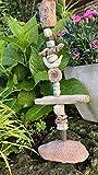 Keramik Kerzenständer, Kerzenhalter, Steinzeug, Ammonit, Treibholz, Insektentränke, getöpfert
