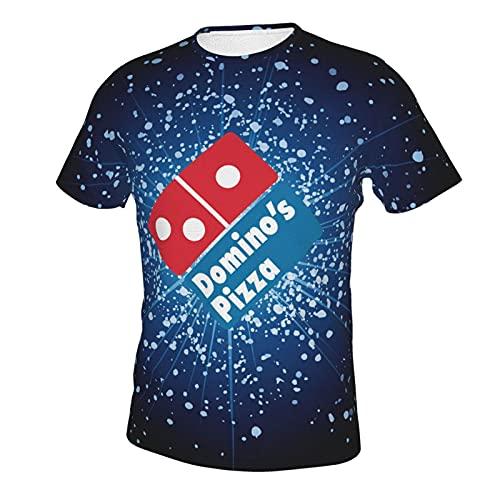 ABCEEEK Domino'S Pizza - Camiseta de manga corta con cuello redondo de algodón para hombre, impresión clásica de doble cara, Hombre, como se muestra en la imagen., M