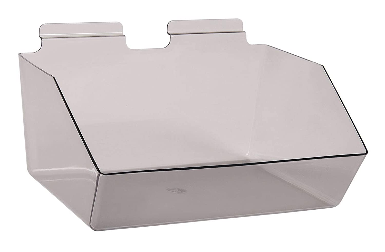 12 Sacramento Mall x 5 ½ 9 inch Clear Gray Bin famous Slat - for Dump Plastic