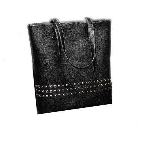 Dames PU lederen schoudertassen Totes handtassen met bijpassende portemonnee portemonnee 2 stuks Set