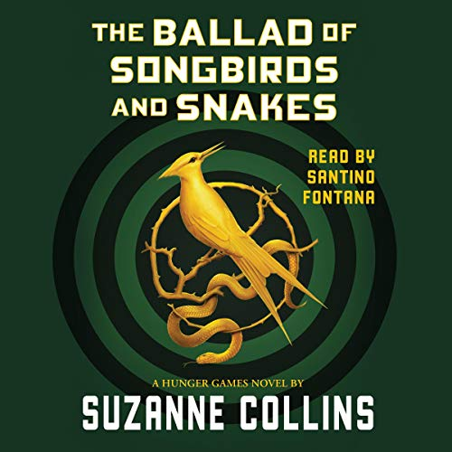 Diseño de la portada del título The Ballad of Songbirds and Snakes