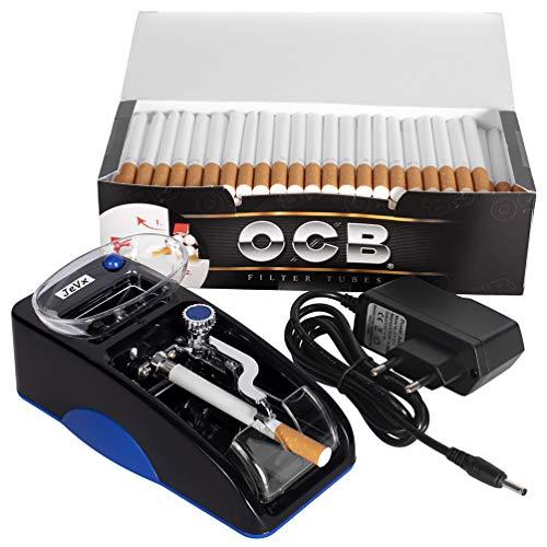 JeVx Maquina Liadora de Tabaco Electrica + 200 Tubos con Filtro OCB Entubadora...