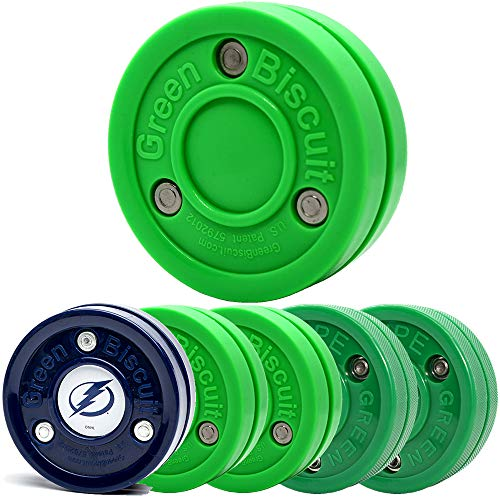 Green Biscuit 4 Pack 2 Passer/2 Snipe Shooters/NHL Puck/GB Sticker