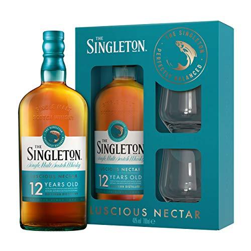 Singleton Of Dufftown 12 Years Whisky Box mit 2 Gläsern, Single Malt Scotch, Alkohol, Flasche, 40%, 700 ml, 761515
