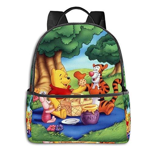 Winnie Pooh Student Bag Unisex Cartoon Gedruckt Schule College Rucksack 36,8 x 30,5 x 12,7 cm