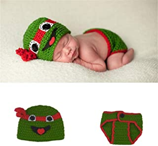 HALAWAKA Newborn Monthly Baby Photo Props Cute Handmade Knitted Costume for Boys Girls Photography Clothes Set