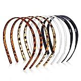 8 Pcs Plastic Plain Headbands Teeth Comb Headbands Skinny DIY Hair Bands Headbands for Women Girls