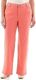 Gloria Vanderbilt Womens Amanda Classic Fit, Tapered Leg, Mid-Rise Jeans (22W Short, Coral Nectar)