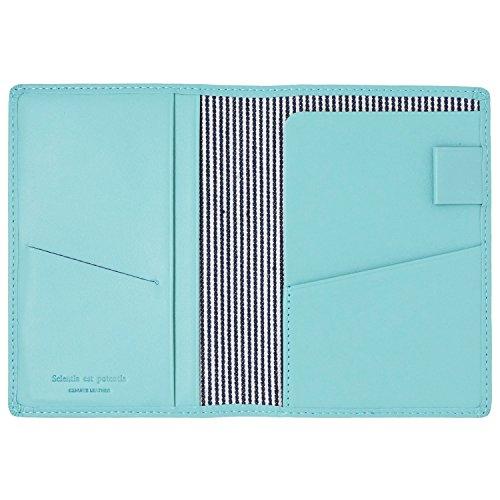スリップオン パスポートケース ノワール 革 ライトブルー NSL-2801