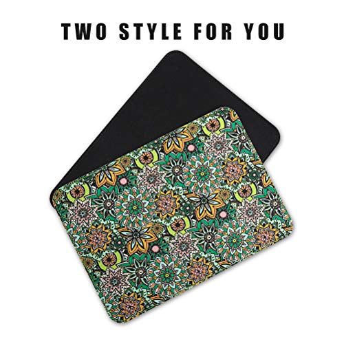 Mouse Pads 2 Pack - PU Leather & Cork Mouse pad, Floral & Black Mouse Pad Mat, Natural Cork Base, Stitched Edge, Writing Mousepad for Laptop, Computer, Office & Home Photo #4