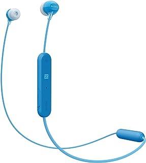 ソニー ワイヤレスイヤホン WI-C300 : Bluetooth対応 最大8時間連続再生 マイク付き 2018年モデル ブルー WI-C300 L