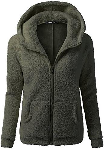 Be super welcome RUIVE Women's Artificial Wool Coats Spring Fall Cheap Zipp Hooded