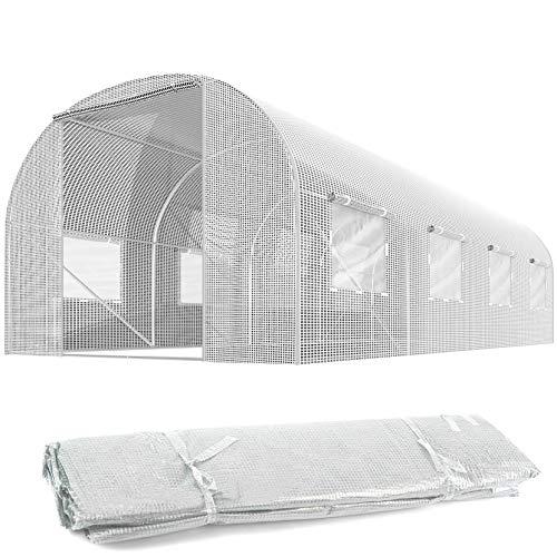 Plonos Ersatzfolie für Folientunnel Gartentunnel Gewächshaus Verschiedene Größen (2,5 x 4 m)