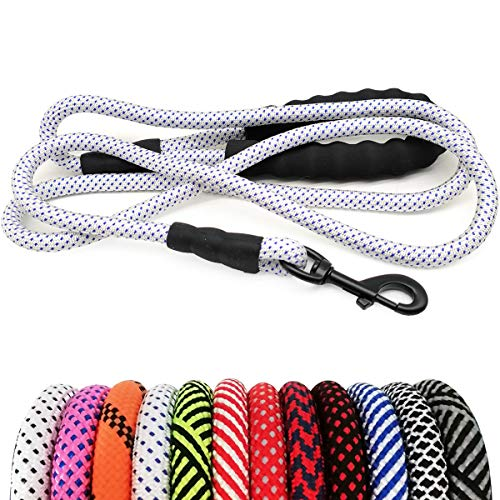 MayPaw Heavy Duty Rope Leash for Large Midum Dogs- Comfortable Padded Handle Outdoor Walking Training Lead Leash(1/2
