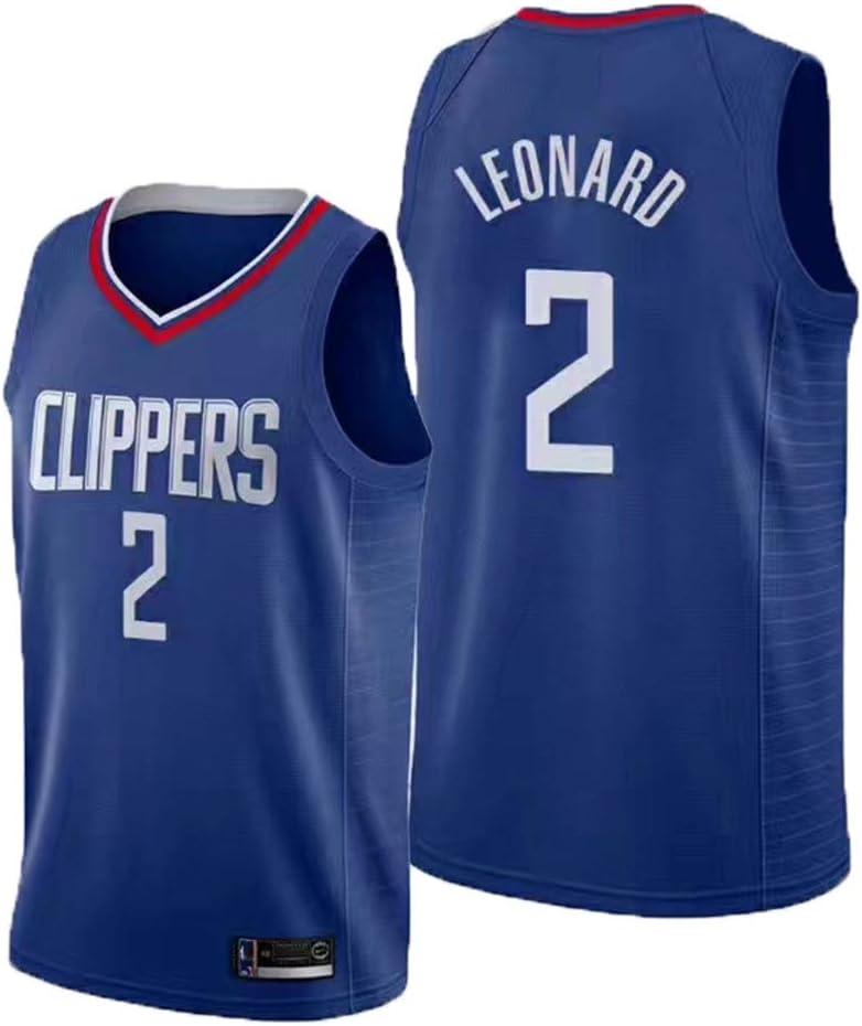Baloncesto Jersey de los Hombres LCY Clippers de la NBA Jersey # 2 Leonard Transpirables de Malla sin Mangas Fitness Deportivo Camisetas Ventiladores Jerseys