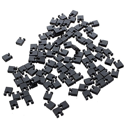 SODIAL(R) 100 x 3P hembra cable jumper Conector para 2,54 mm puentes de alambre para Arduino