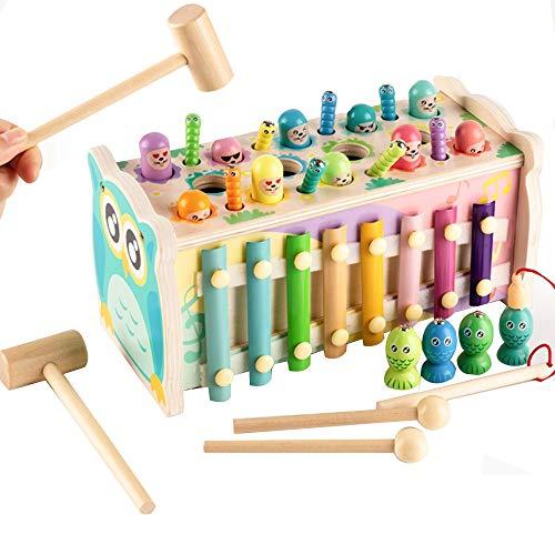 WFF Spielzeug Baby Angeln Spielzeug Gehirn einflößende Frühkindliche Bildung Spielzeug, Vier-in-One Multifunktions-Lernspielzeug (Color : 3pieces)