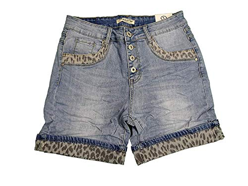 Karostar by Lexxury Baggy Boyfriend Stretch Shorts Bermuda Jeans Denim Leo 50 IT-3XL