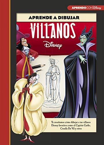 Aprende a dibujar a Villanos Disney (Crea, juega y aprende con Disney):...