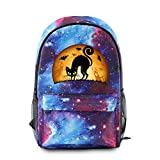 MSBXBB Mochila con Patrón De Gato De Halloween Bandoleras Hombre Bolso De Crossbody Impermeable Backpack Mochila Casual Purple 44X26X15CM