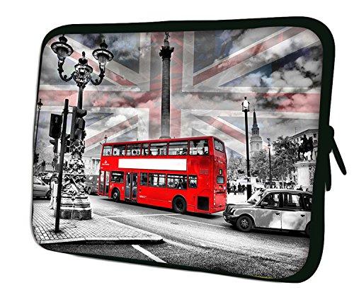 Luxburg® Funda Bolso en Neopreno para iPad Mini/iPad Mini 2 / iPad Mini 3 / iPad Mini 4 - Turismo en Londres