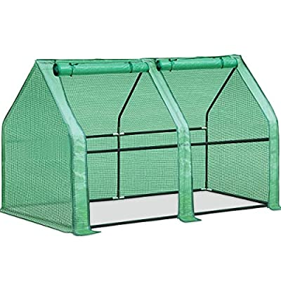 """Quictent Updated Super Large Zipper Doors Mini Greenhouse Portable Cloche Green House 71"""" W X 36"""" D X 36"""" H, 50 Pcs Plant T-Type Tags Included"""