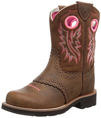 Ariat Kid's Fatbaby Collection Boot, Powder Brown/Western Brown, 13.5 US Unisex Little