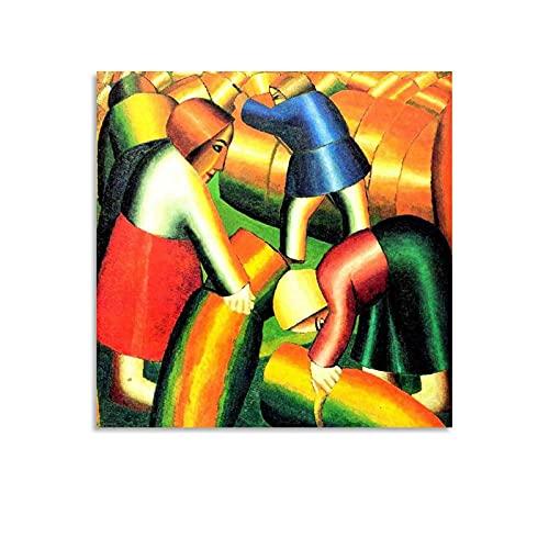 shenjin Póster artístico de Kazimir Malevich - Lienzo de pintor ruso y arte de la pared, impresión moderna para dormitorio familiar de 30 x 30 cm