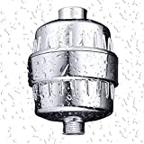 Universal Shower Filter Shower Water Purifier For Hard Water Remove Chlorine, Heavy Metals and Water Impurities,Improve The Condition of Your Skin, Hair and Nails,Chrome (1 Pack) (5 stage)