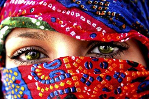 1art1 Frauen - Arabische Augen Selbstklebende Fototapete Poster-Tapete 180 x 120 cm