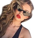 rawdah occhiali da sole donna occhio di gatto moda vintage retro unisex uv400 bicchieri guida occhiali da sole cat eye triangle occhiali da sole vintage retro eyewear sunglasses (j)