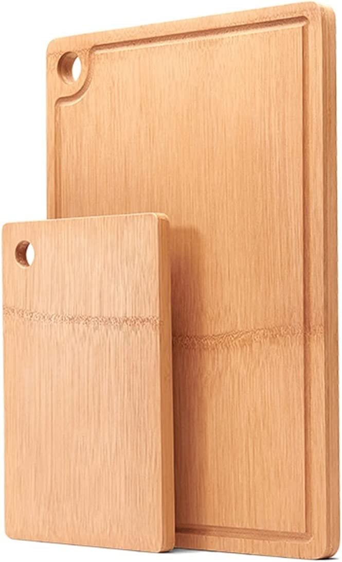 2 Pieces Bamboo Same day shipping Cutting Board for Chop With Boston Mall Groove Kitchen Juice