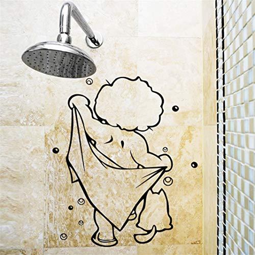 Wandtattoo - Nehmen Sie eine Bad Dusche - Decal Art Wandbilder Vinyl Wallpaper Selbstklebende wasserdichte Wanddeko Badezimmer Waschraum Toilette